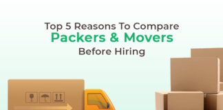 Top 5 reasons to compare packers & movers before hiring